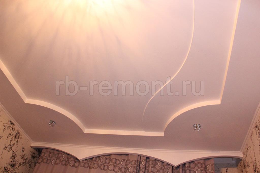 отделка потолка гипсокартоном цена за работу