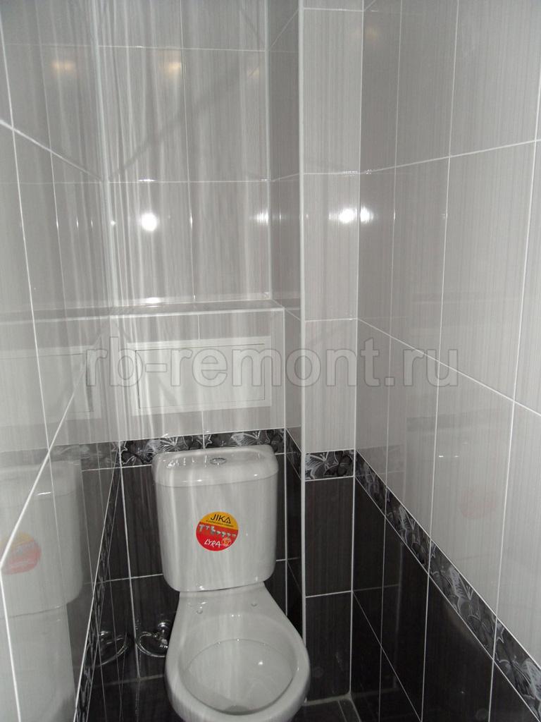 Укладка плитки в туалете 5 (бол.)