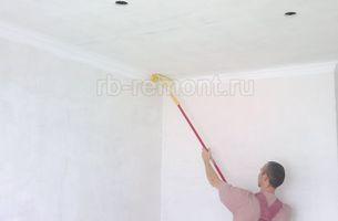 Покраска потолка 1 (мал.)