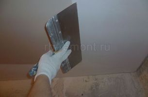 Шпатлевка потолка 2 (мал.)