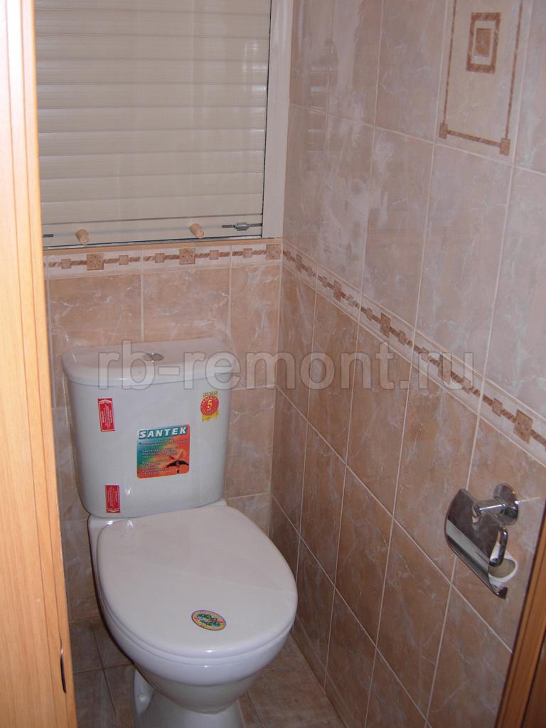 Укладка плитки в туалете 2 (бол.)