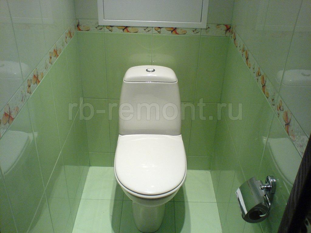 Укладка плитки в туалете 3 (бол.)