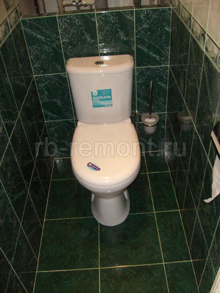 Укладка плитки в туалете 4 (бол.)