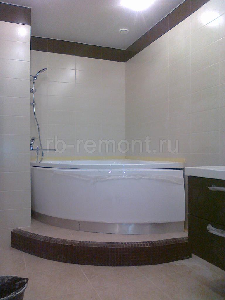 Укладка плитки в ванной комнате 6 (бол.)